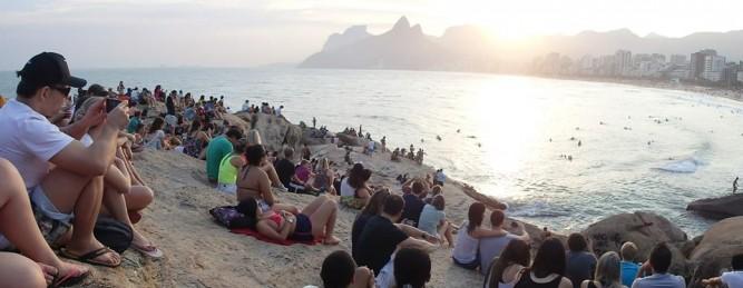 sunset - ipenema beach