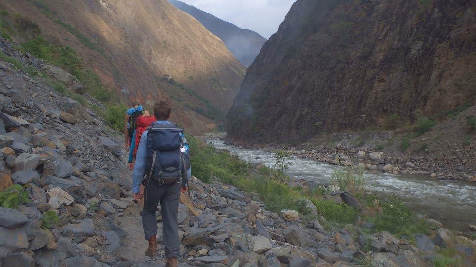 Inca jungle trek river walk