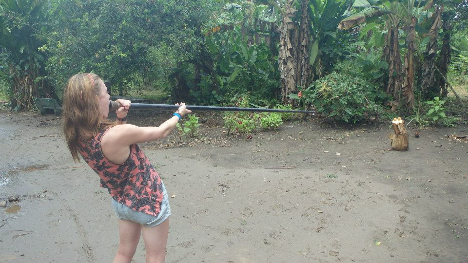 Amazonian blowpipe