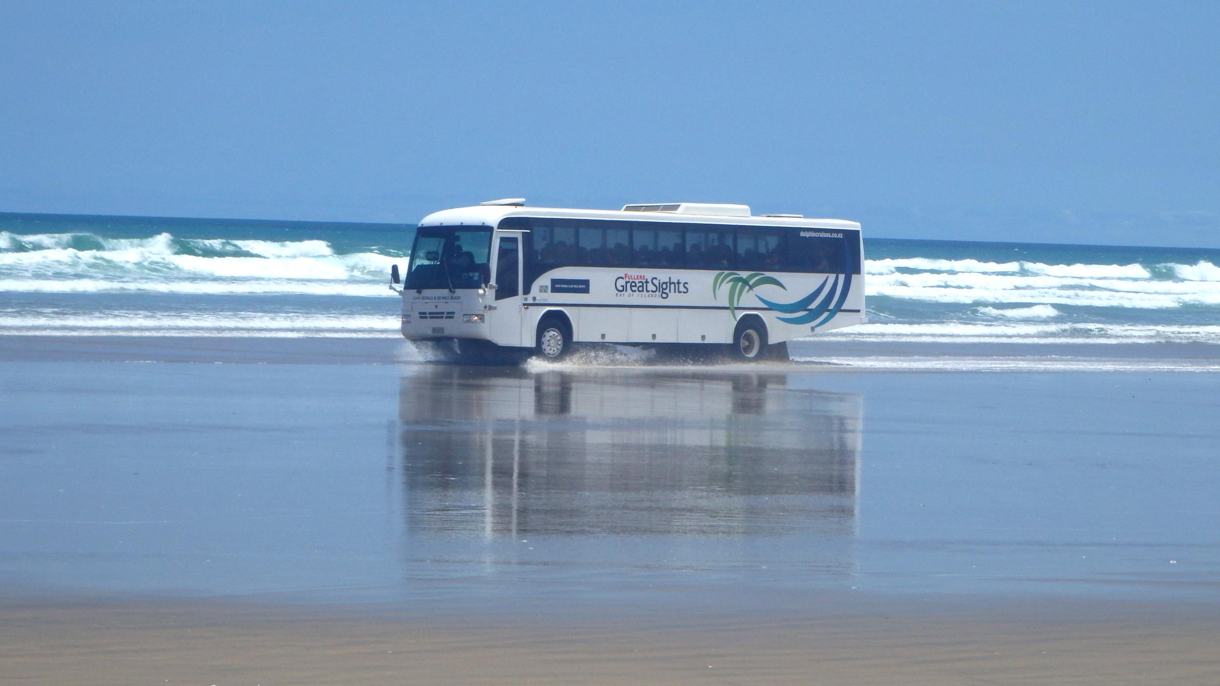 Bus on 90 Mile Beach