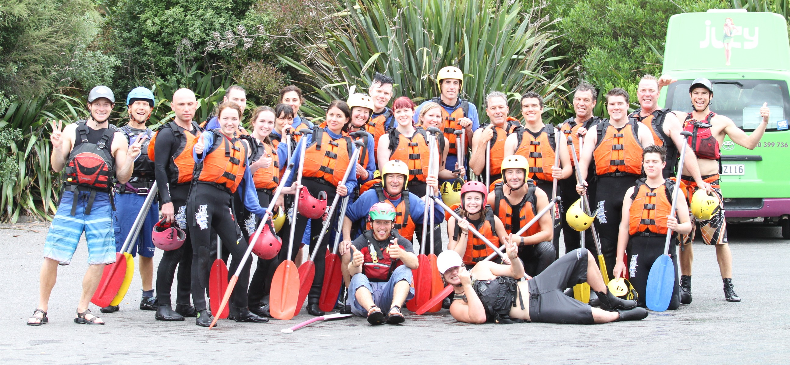 rafting team, NZ
