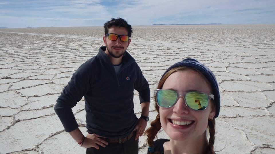 Salt flats selfie